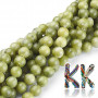 Tumbled round beads made of natural Taiwanese jade with a diameter of 8 mm and a hole for a thread with a diameter of 1 mm. The beads are absolutely natural without any dye. Country of origin:Taiwan THE PRICE IS FOR 1 PCS.