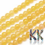 Tumbled round beads made of natural mineral orange calcite with a diameter of 6 mm with a hole for a thread with a diameter of 1 mm. The beads are completely natural without any dye. Country of origin: China THE PRICE IS FOR 1 PCS.