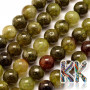 Tumbled round beads made of natural green garnet with a diameter of 8 mm and a hole for a thread with a diameter of 1 mm. The beads are absolutely natural without any dye. Country of origin: India THE PRICE IS FOR 1 PCS.