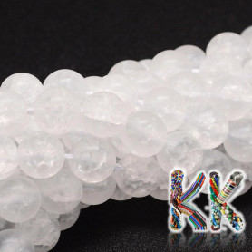 Synthetic cracked frosted crystal - ∅ 8 mm - ball