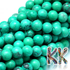 Natural howlite - ∅ 8 mm - colored balls