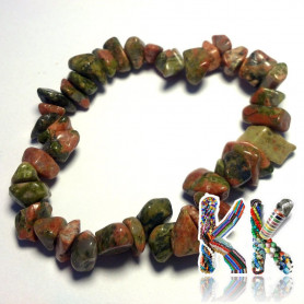 Bracelet from mineral fractions unakit - 18