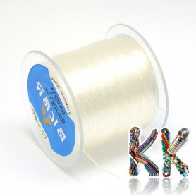 Polyester fiber - clear - ∅ 0.8 mm - roll 130 meters