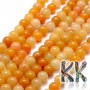Tumbled round beads made of natural yellow topaz with a diameter of 8 mm with a hole for a thread with a diameter of 1 mm. The beads are absolutely natural without any dye. Country of origin: South Africa THE PRICE IS FOR 1 PCS.