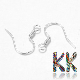 Afro hooks with spring - 15 mm (1 pair)