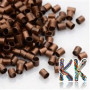 Iron crimp beads with a colored copper finish with a diameter of 2 mm, a length of 2-3 mm and a hole for a thread with a diameter of 1.2-1.5 mm.THE PRICE IS FOR 1 g (approx. 80 pieces).