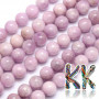 Tumbled round beads made of natural kunzite (pink-violet varieties of spodumene) with a diameter of 10 mm with a hole for a thread with a diameter of 1 mm. The beads are absolutely natural without any dye. Country of origin: Madagascar THE PRICE IS FOR 1 PCS.
