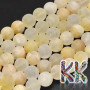 Tumbled round beads made of natural quartz imitating citrine mineral with a diameter of 8 mm with a hole for a thread with a diameter of 1 mm. The beads are completely natural without any dye. Please note that all frosted minerals are gradually polished by wiping on fabrics (clothing) to the full gloss. Country of origin: Africa - not specified by the manufacturer THE PRICE IS FOR 1 PCS.