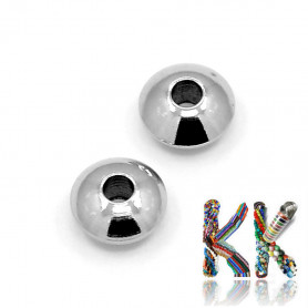 Stainless steel separating bead - roundel - ∅ 6 x 3 mm