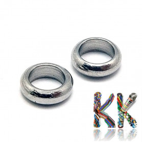 Stainless steel separating bead - ring - ∅ 8 x 2.5 mm
