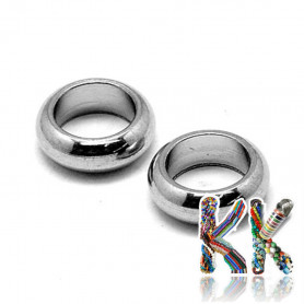 Stainless steel separating bead - ring - ∅ 6 x 2 mm