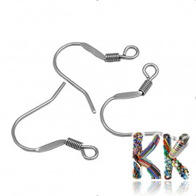 Afro hooks with 316 stainless steel spring - 17 x 18 mm (1 pair)