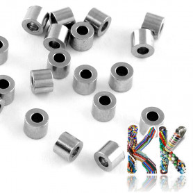 304 Stainless steel separating bead - tube - ∅ 3 x 2.5 mm