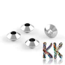 304 Stainless steel separating bead - double cone - ∅ 6 x 3 mm