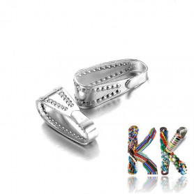Flap made of 304 stainless steel - 11 x 4 x 4.5 mm - decorated