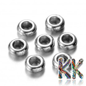 Separating bead made of zinc alloy - ring - Ø 7 x 3 mm