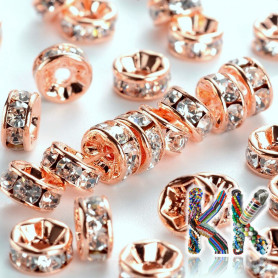 Brass chaton roundel - rose gold - ∅ 6 x 3 mm - quality AAA