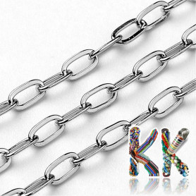304 Stainless steel chain - eyelet 4 x 2 mm - coil 10 meters