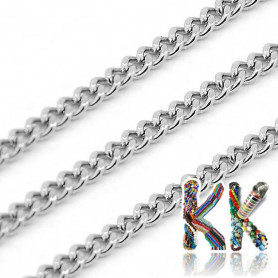 304 Stainless steel chain - eyelet 3 x 2.2 x 1 mm - coil 10 meters