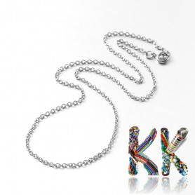 316 Stainless steel necklace chain with spring ring - length 70.5 cm