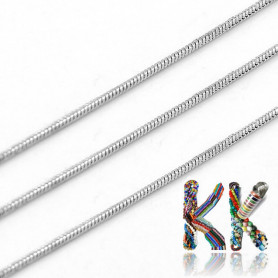 316 Stainless steel snake chain - thickness 1 mm - coil 1 meter