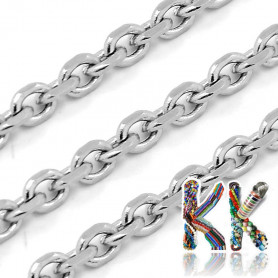 316 Stainless steel chain - eye 3.5 x 3 x 0.5 mm - coil 1 meter
