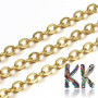 Brass chain with crossed eyelets, which are 3.5 mm long, 3 mm wide and the thickness of the metal is 0.5 mm. The brass core of the chain is modified on the surface to the appropriate color reflection.THE PRICE IS FOR 1 PC (10 meters).