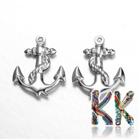 316 stainless steel pendant - anchor - 24 x 18.5 x 3 mm