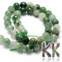 Tumbled and faceted round beadsmade of natural chrysoprase with a diameter of 6 mm with a hole for a thread with a diameter of 1 mm. The beads are absolutely natural without any dye. Country of origin: Africa - not specified by the manufacturer THE PRICE IS FOR 1 PCS.
