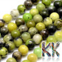 Tumbled round beads made of natural Australian chrysoprase with a diameter of 6 mm with a hole for a thread with a diameter of 1 mm. The beads are absolutely natural without any dye. Country of origin: Australia THE PRICE IS FOR 1 PCS.