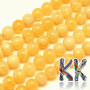 Tumbled round beads made of natural mineral orange calcite with a diameter of 10 mm with a hole for a thread with a diameter of 1 mm. The beads are completely natural without any dye. Country of origin: China THE PRICE IS FOR 1 PCS.