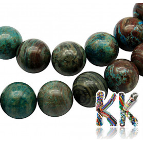 Natural chrysokol - ∅ 6 mm - marbles