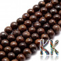 Tumbled round beadsmade of bronze mineral with a diameter of 6 mm with a hole for a thread with a diameter of 1 mm. The beads are completely natural without any dye. Country of origin: Brazil THE PRICE IS FOR 1 PCS.