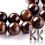 Tumbled round beads in the shape of balls of bronze mineral with a diameter of 10 mm with a hole for a thread with a diameter of 1 mm. The beads are completely natural without any dye. Country of origin: Brazil THE PRICE IS FOR 1 PCS.