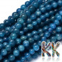 Tumbled round beads made of natural mineral apatite with a diameter of 4 mm with a hole for a thread with a diameter of 1 mm. The beads are completely natural without any dye and the manufacturer guarantees them with quality A - ie better workmanship and a richer color than with lower quality beads. Country of origin: Madagascar THE PRICE IS FOR 1 PCS.