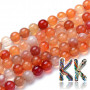 Tumbled round beadsmade of carnelian mineral with a diameter of 4 mm with a hole for a thread with a diameter of 0.5 mm. The beads are absolutely natural without any dye. Country of origin: Brazil THE PRICE IS FOR 1 PCS.