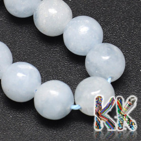 Natural blue calcite - ∅ 10 mm - beads