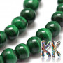 Tumbled round beadsmade of natural malachite mineral with a diameter of 4 mm and a hole for a thread with a diameter of 1 mm. The beads are absolutely natural, without any dye. Country of origin: Brazil THE PRICE IS FOR 1 PCS.