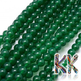 Natural green onyx - ∅ 8 mm - ball - colored