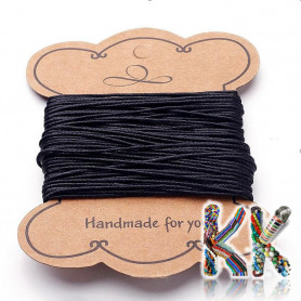 Waxed cotton cord - ∅ 1 mm - roll 10 m