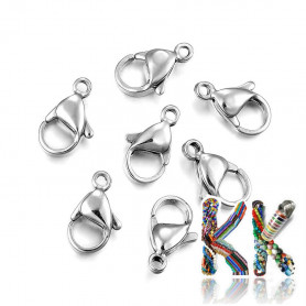 304 Stainless steel carabiners - 15 x 9 x 4.5 mm