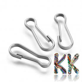 304 Stainless steel key carabiners - 20.5 x 7 x 2 mm