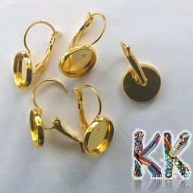 Earrings with a bed - for cabochon ∅ 12 mm