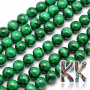 Tumbled round beads made of natural malachite mineral with a diameter of 10 mm and a hole for a thread with a diameter of 1 mm. The beads are absolutely natural without any dye. Country of origin: Africa (not specified by the manufacturer) THE PRICE IS FOR 1 PCS.