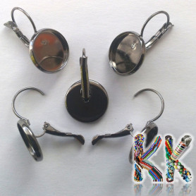 Earrings with a bed - for cabochon ∅ 14 mm