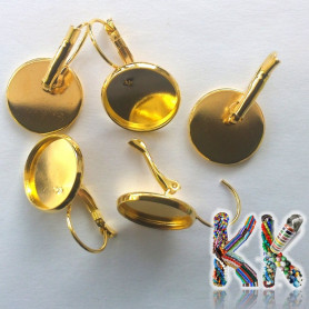 Earrings with a bed - for cabochon ∅ 16 mm