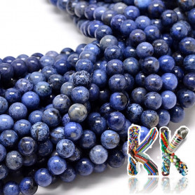 Natural sodalite - ∅ 8 mm - ball - quality AA