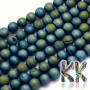 Plated beads made of natural druzy agate (small pieces of geodes) with a diameter of 8 mm in the form of balls with a hole for a thread with a diameter of 1 mm. The beads are absolutely natural and dyed by plating. Country of origin: Brazil THE PRICE IS FOR 1 PCS.