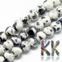 Handmade round porcelain beads with a simple painted and glazed surface in antique style with a diameter of 9 mm and a thread with a width of 2 mm. The beads are made of genuine handmade Chinese porcelain, so each bead is original. THE PRICE IS FOR 1 PCS.