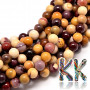 Tumbled round beads made of mookaite mineral with a diameter of 6 mm with a hole for a thread with a diameter of 1 mm. The beads are completely natural without any dye. Country of origin: Australia THE PRICE IS FOR 1 PCS.